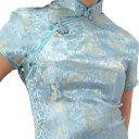 チャイナ服 チャイナドレス 5サイズ有り 半袖ロング 半袖ショート 袖無しロング d04ゴスロリ♪ロリータ♪パンク♪コスプレ♪コスチューム♪メイド