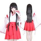 店内50%OFF〜開催中♪ 巫女 2点セット M〜4Lサイズあり costume250 ハロウィン 衣装