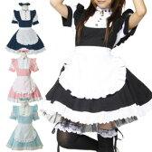 仔猫メイド コスプレ メイド 衣装 アリス 大人用 ロリータ ハロウィン S〜5Lサイズあり 4色展開 5点セット costume311