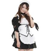 会長はメイド様風コスチューム コスプレ メイド 衣装 アリス 大人用 ロリータ ハロウィン M〜2Lサイズあり 4点セット costume413