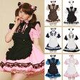 メイド コスプレ 猫耳メイド 3点セット 2L〜Sサイズ 4色展開 衣装 サイズ コスチューム ハロウィン costume449