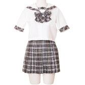 エーデル附属高校制服風 コスプレ セーラー服 女子高生 ブレザー ハロウィン S〜4Lサイズあり 3点セット costume472