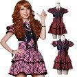 ショッピングコスプレ チェックコスチューム コスプレ セーラー服 制服 女子高生 ブレザー ハロウィン AKB風 S〜4Lサイズあり 3色展開 4点セット costume541