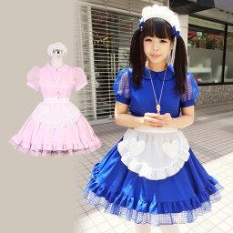 メイドコスチューム コスプレ メイド 衣装 アリス 大人用 ロリータ M〜4Lサイズあり 2色展開 4点セット costume836