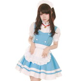 どらどらメイド コスプレ メイド 衣装 アリス 大人用 ロリータ ハロウィン M〜2Lサイズあり 5点セット costume854 ハロウィン