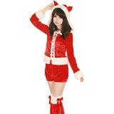店内50%OFF〜開催中♪ 【Mフリー】サンタ コスプレ クリスマス セクシー衣装 ハロウィン 3点セット costume873 ハロウィン 衣装