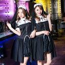 costume【コスチューム】シスターガール2点セット(ワンピース、ベール)黒(ブラック)【コスプレ...