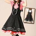 ナザレドレス付ジャンパースカート L014 ゴスロリ♪ロリータ♪パンク♪コスプレ♪コスチューム♪メイド