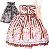 制服 ハロウィン ゴスロリ ロリータ ゴシック ローズブーケハイウエストスカート パーティー コスプレ 発表会 M〜2Lサイズあり 2色展開 L514 ハロウィン 衣装