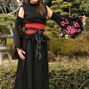 お袖の桜がポイント!桜吹雪袖ゴスロリ浴衣p253