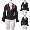 ジャケット ゴスロリ ロリータ パンク コスプレ ハロウィン 3色展開 s〜2Lサイズあり p276 ハロウィン 衣装