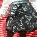 スチームパンク 制服 ハロウィン スカート チェーン コスプレ 発表会 M〜4Lサイズあり 黒 p310 ハロウィン 衣装