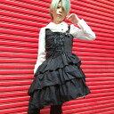 ワンピース  ハロウィン フランセーズワンピ ゴシック パンク 学園祭 文化祭 S〜2Lサイズあり  p313 ハロウィン 衣装