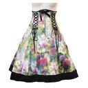 スチームパンク 制服 ハロウィン ドレス コスプレ 発表会 花柄 カラフル ドレス 編み上げ S〜2Lサイズあり p324 ハロウィン 衣装