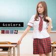 リセスクールガール風制服 コスプレ セーラー服 女子高生 ハロウィン S〜4Lサイズあり 4色展開 3点セット costume481