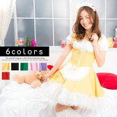 メイドコスチューム コスプレ メイド 衣装 アリス 大人用 ロリータ ハロウィン M〜2Lサイズあり 6色展開 3点セット costume642 ハロウィン