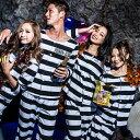 店内50%OFF〜開催中♪ 囚人服 コスプレ メンズ ハロウィン 衣装 男性用 M〜4Lサイズあり 2点セット costume827 ハロウィン 衣装