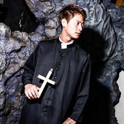 神父コスプレメンズハロウィン衣装男性用M〜Lサイズあり3点セットcostume897ハロウィン衣装