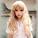 楽天ボディーラインウイッグ フルウィッグ 耐熱 wig カラー展開 ゆるふわ ロング カール  巻き髪 コスプレ w179