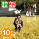 【無肥料 自然栽培米】【農薬不使用】【玄米】【27年産】 岡山県産 朝日 10kg(5kg×2袋) 真庭市 旧北房町産02P29Jul16