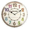 【ポイント10倍】 電波時計 時計 送料無料 掛け時計 壁掛け クロック 掛時計 壁掛け時計 壁掛時計 アナログ 木目調 丸型 ドームガラス 雑貨 ブラウン ホワイト レトロ調 リビング ギフト 贈り物 開業祝い プレゼント おしゃれ 北欧