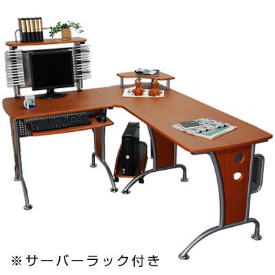 パソコンデスク l型デスク PCデスク l字型デスク パソコンラック デスク L字型 木製…...:bon-kagu:10051772