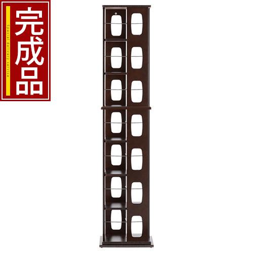コミックラック 7段 送料無料 本収納 木製 回転式 縦長 本棚 ラック オープンラック …...:bon-like:10020888