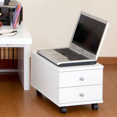 デスク チェスト 木製デスクチェスト 書類収納 オフィス収納 オフィス家具 サイドチェスト…...:bon-like:10002902