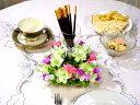 NEW☆【0116NEW10】テーブル飾り:デルフィニューム/ホワイト(造花)【0126PUP10F】