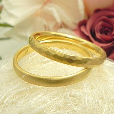 指輪 K22 幅2.5ミリ楕円リング22金ゴールド/プラチナ950手作り鍛造リング送料無料 ☆指輪断面が薄い楕円形のリングです☆K22/Pt950からお選びください☆刻印可能(英数20文字以内1200円追加)☆結婚指輪としてもおすすめ