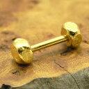 ボディーピアス 22金セカンドピアス軸太ネジ式留め金具金属アレルギー対策