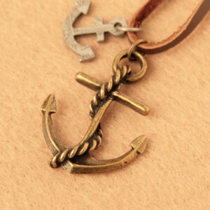 ◆ Bonaventure (ボナバンチュール) translated into women's casual antique anchor mens/unisex/pair / anchor / anchor / anchor / anchor shape necklace pendant popularity and Yen reduction trial! reviews posted