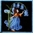 フェイラー ハンカチ [Feiler] フェアリーテール 妖精(ブラック/ブルー)25cmx25cm #fel008204 【メール便対応可】