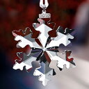 スワロフスキー 置物[Swarovski] クリスマスオーナメント 2016年限定品・雪の結晶 #swv5180210の写真
