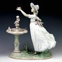 リヤドロ(Lladro リアドロ 陶器人形 置物) 少女 春を告げる小鳥達(台座別#ldr-6106