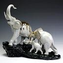 リヤドロ(Lladro リアドロ 陶器人形 置物) 動物 象の行進 (Recyclos III)#ldr-7235