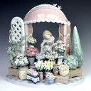 リヤドロ(Lladro リアドロ 陶器人形 置物) 花と少女 ロマンティックな朝#ldr-8250