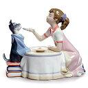 リヤドロ(Lladro リアドロ 陶器人形 置物) 犬と少女 お茶の時間 #ldr-9197
