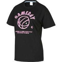 CONVERSE(コンバース) バスケットボール ウィメンズ Tシャツ(ブラック×ピンク)[CB381305-1961] 【バスケットボール】バスケットボールウェア 半袖Tシャツ プラクティス シャツレディース 女性用の画像