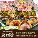 宮城県涌谷町産ミヤギシロメ大豆100%使用!安心・安全、そして美味しい!【宮城名物一口三角油揚げ(11枚入り)】