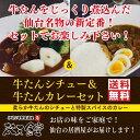仙台名物の新定番!じっくり煮込んだ牛たんシチューとスパイス香る牛たんカレーをセッ