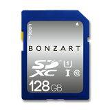 SD������ 128GB CLASS10 UHS-1BONZRT SDXC 128���� ���饹10 UHS-1�ʵ��ݾ��դ� ��® ������ �ǥ����륫��� �ӥǥ������
