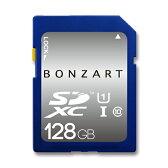 SDカード 128GB CLASS10 UHS-1BONZRT SDXC 128ギガ クラス10 UHS-1永久保証付き 高速 大容量 デジタルカメラ ビデオカメラ