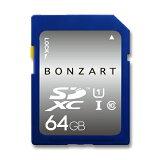 SD������ 64GB CLASS10 UHS-1BONZRT SDXC 64���� ���饹10 UHS-1�ʵ��ݾ��դ� ��® ������ �ǥ����륫��� �ӥǥ������