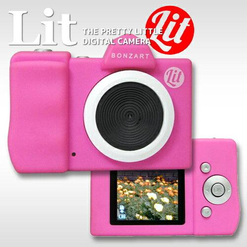 BONZ-LIT/PK BONZART Lit + 핑크 TOY CAMERA 토이 카메라 トイデジ 여자 카메라 키즈 카메라 어린이용 ボンザート 리 트