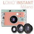 チェキ のフィルムが使える インスタントカメラ LOMO' INSTANT Milano LOMOGRAHYインスタントフィルム 専用カメラ ロモインスタントINSTAX MINI フィルム ロモグラフィー トイカメラ TOY CAMERA パステルカラー ダルメシアン柄