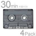 カセットテープ 30分 maxell 4本セットUR-30L 4P 日立 マクセルノーマル 音楽用テープ 4巻カラオケ おけいこ 録音 アナログ カセット テープ
