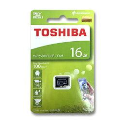 東芝 マイクロSDカード 16GB microSDHC クラス10 UHS-I 100MB/s THN-M203K0160A4