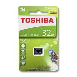 東芝 マイクロSDカード 32GB microSDHC クラス10 UHS-I 100MB/s THN-M203K0320A4