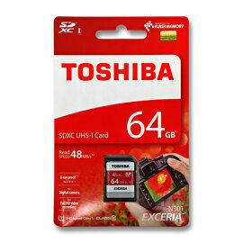 SD������64GB���64����SDHC���饹10UHS-1TOSHIBATHN-N301R0640C4(SD-K064GR7AR040A�θ�ѷ��֡�48MB/s